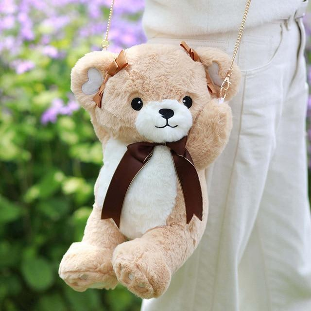 Sweet Bear Handbag - Brown - Purse