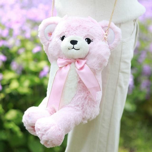Sweet Bear Handbag - Pink - Purse