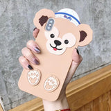 Kawaii Stellalou Duffy Bear iPhone Phone Case Protector Cute Disney Japan Sweet Cute 3d Rubber