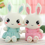 Kawaii Bunny Rabbit Plush Stuffed Animal Toys 40cm Large Plushies Cute Pink and Blue