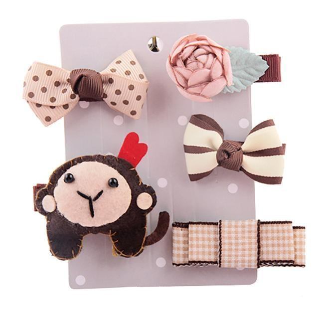 Sweet Hair Barrettes - Monkey - Hair