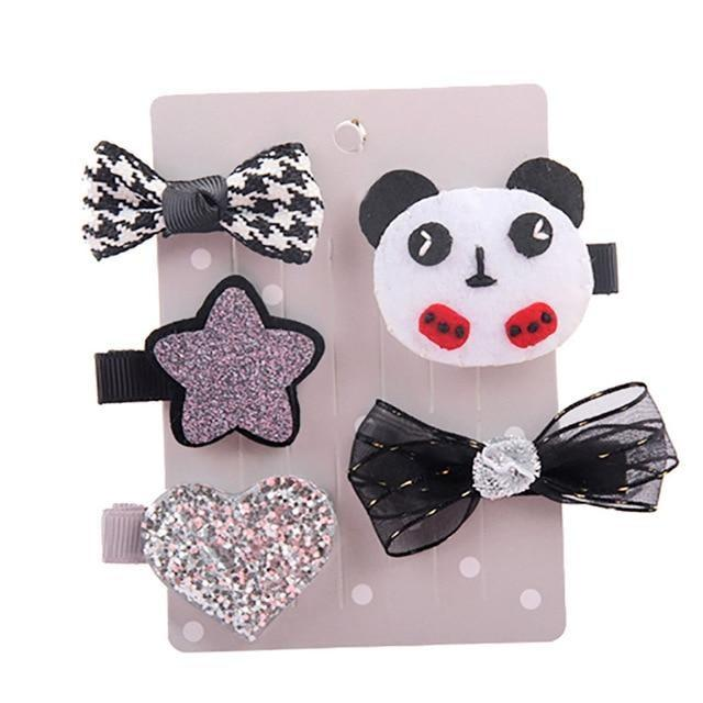 Sweet Hair Barrettes - Panda - Hair