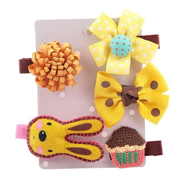Sweet Hair Barrettes - Yellow Rabbit - Hair