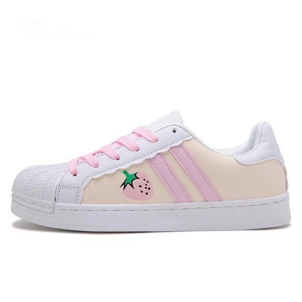Sweet Strawberry Trainers - Creamy / 5.5 - Shoes