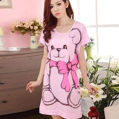 Teddy Nightgown - Pink / Xxl - Dress