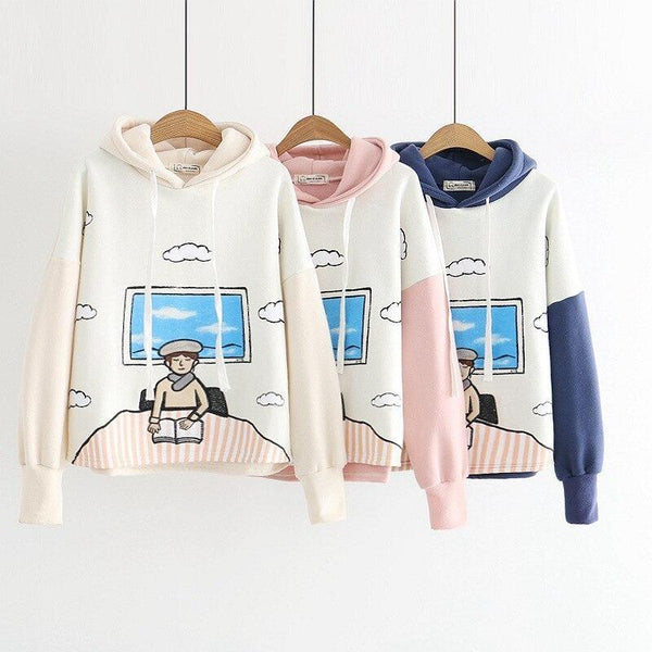 The Book Worm Hoodie - sweater