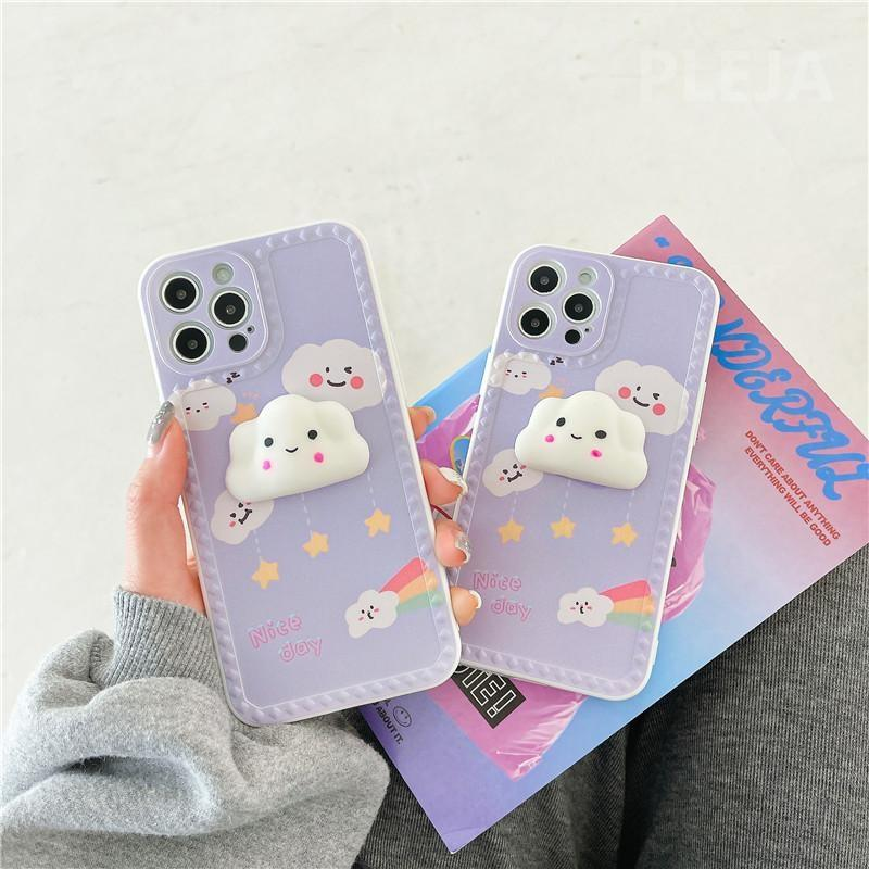 Tiny Cloud iPhone Case - apple iphone, cloud, clouds, cloudy, fairy kei
