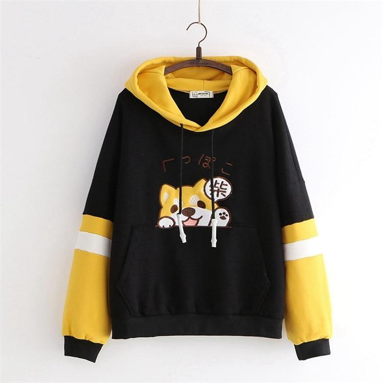 Tiny Pupper Hoodie - Black / One Size - sweater
