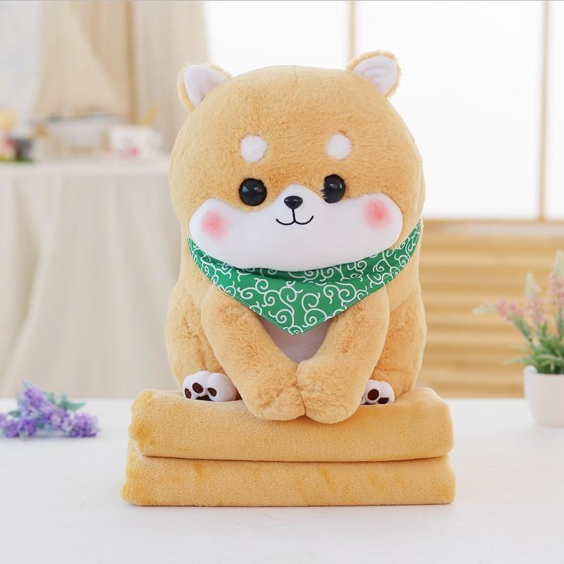 Tiny Pupper Plush & Blanket Set - Dog only 50cm / Light brown - plush toy