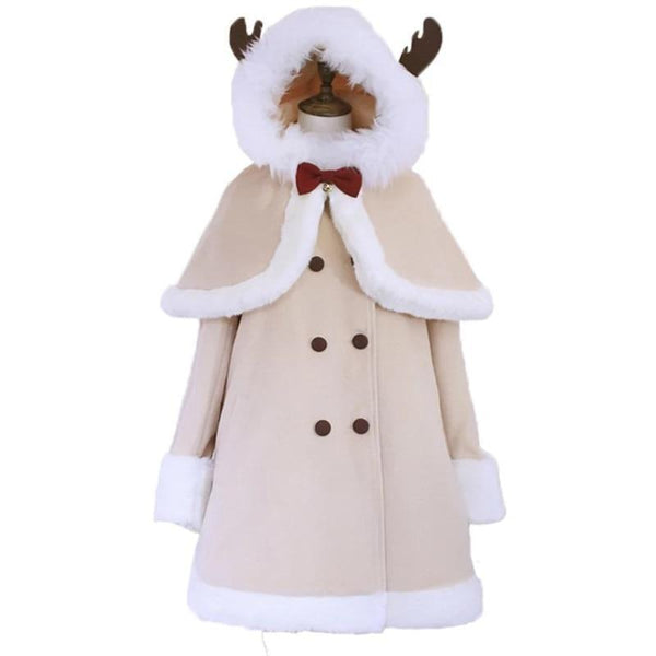 Tiny Reindeer Winter Dress Coat - jacket