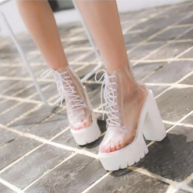 Transparent Baby Doll Ankle Booties