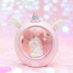 Pink Unicorn Globe Night Light Table Lamp Christmas Ornament Fairy Kei Kawaii