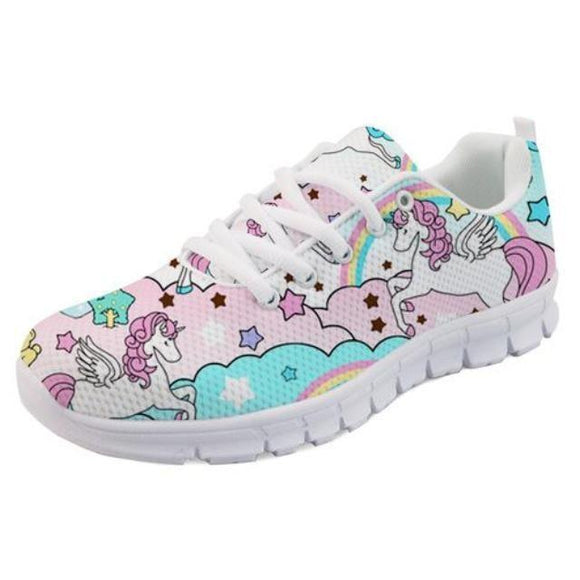 Kawaii Cloud Unicorn Shoes Sneakers Athletic Footwear Cute Pastel Fairy Kei Style