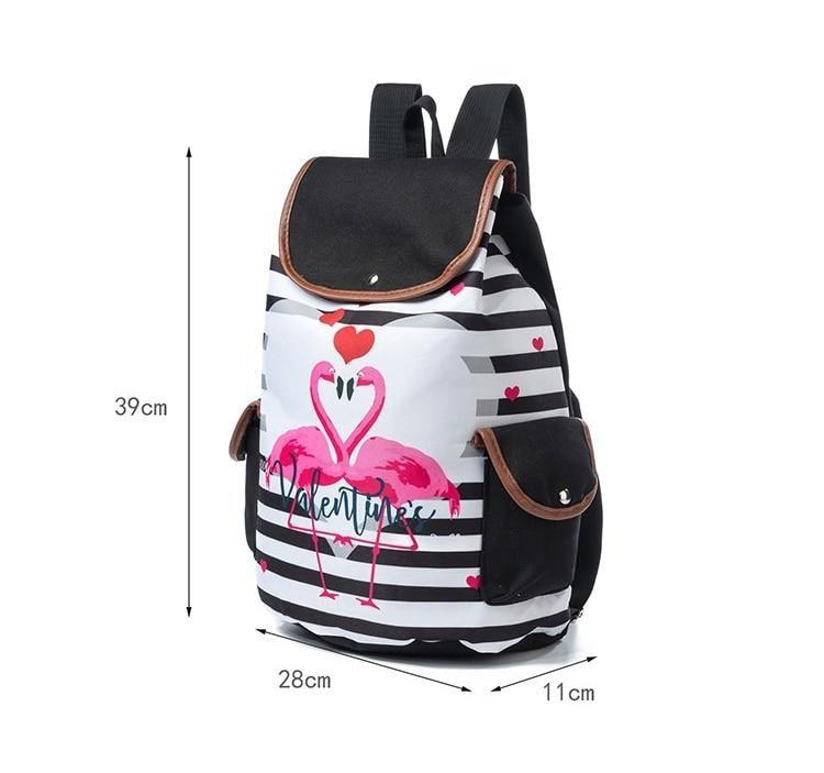 93a5565a6b22 Rainbow Unicorn Time Rucksack Backpack Pink Flamingo Cute Kawaii Babe