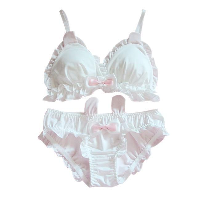 White Rabbit Lingerie Set - White / M (B Cup) - lingerie