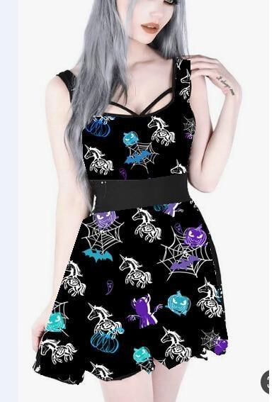 Zombie Unicorn Dress - dress
