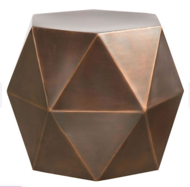 Chester Iron Hexagon Accent Table