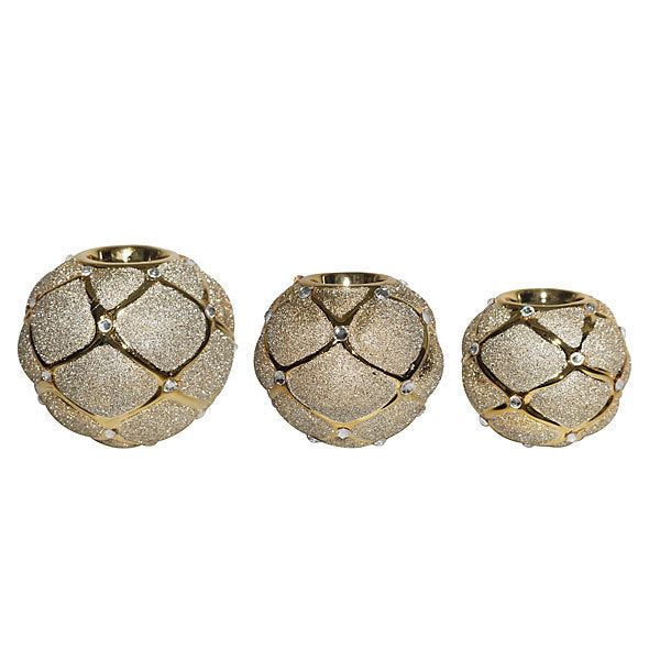 Diamonite Candle Holder- Set of 3