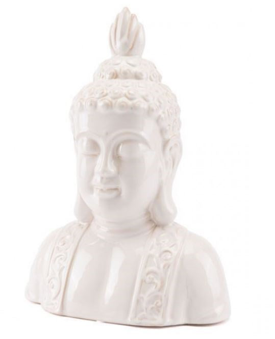 Distressed Buddha Head Ivory