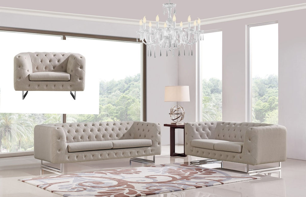 Modern Beige Sofa Set