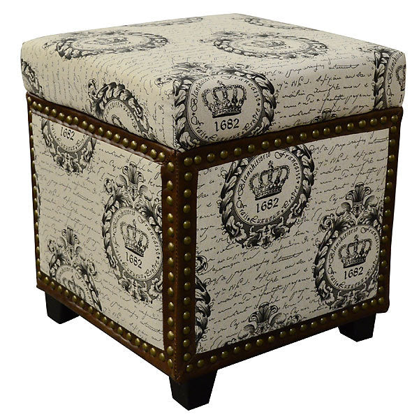 French Storage Ottoman