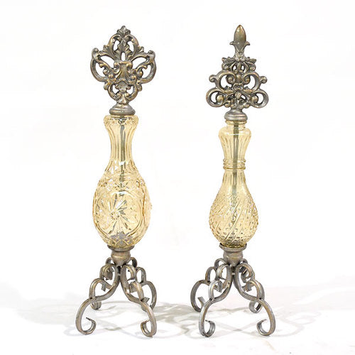 Glass Finials - Set of 2