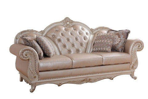 Marquee Pearl Leather Sofa