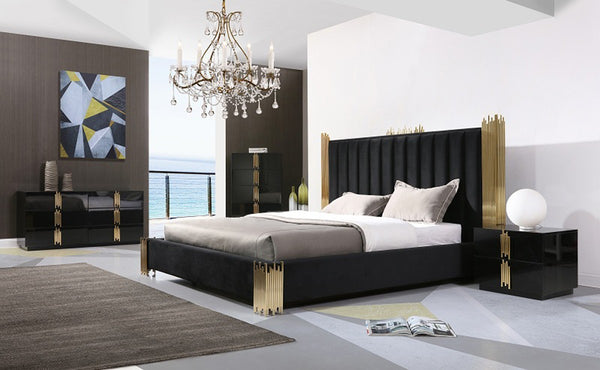 Modern Black and Gold Bed