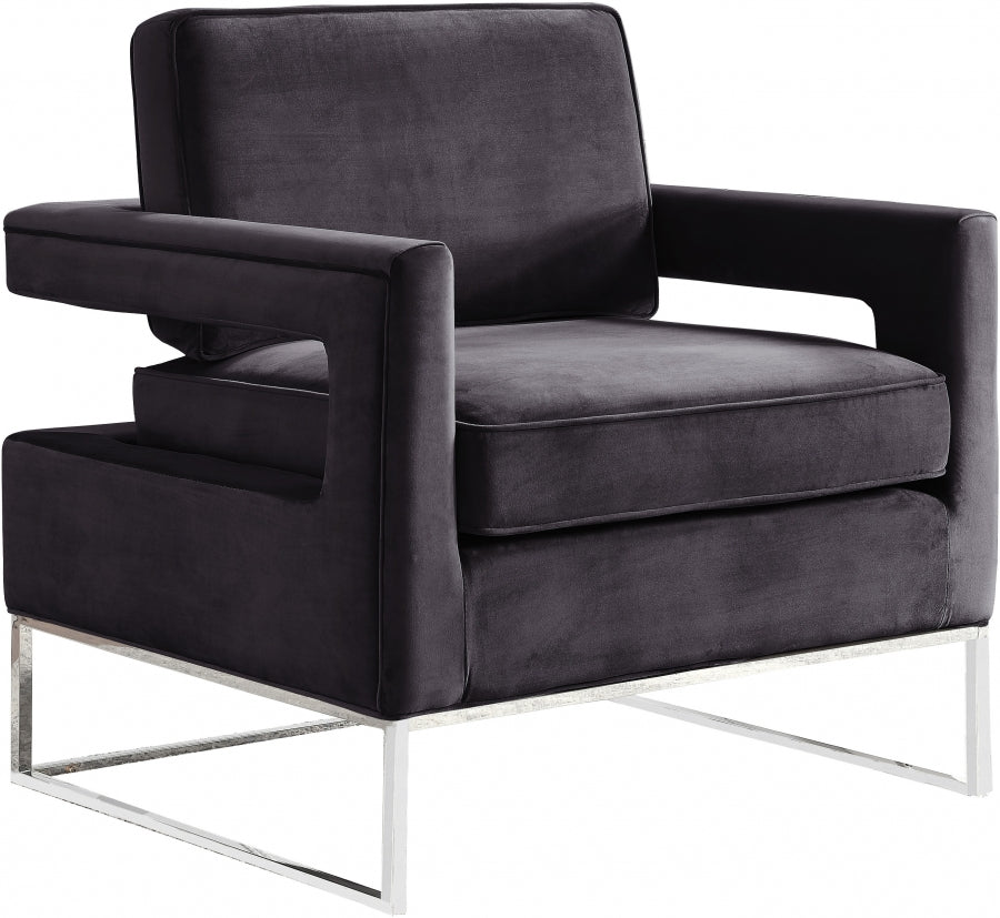 Noah Velvet Accent Chair