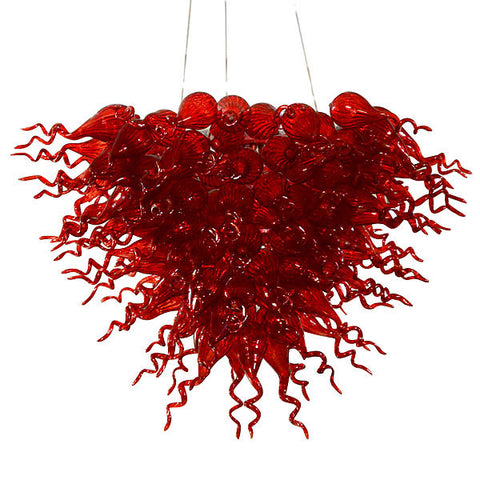 Red Burst Chandelier- Large