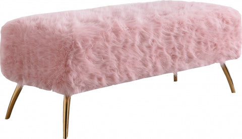 Tiffany Fur Bench