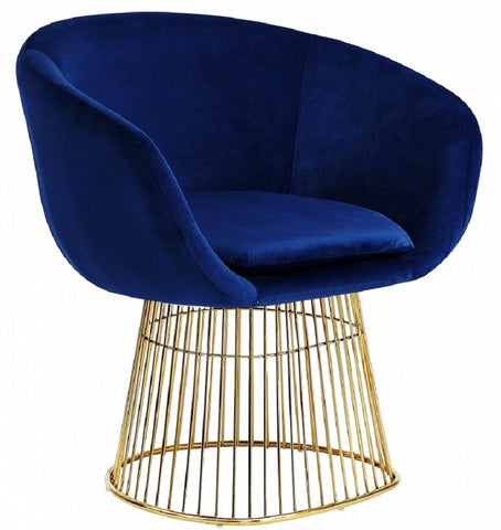 Dylan Velvet Accent Chair