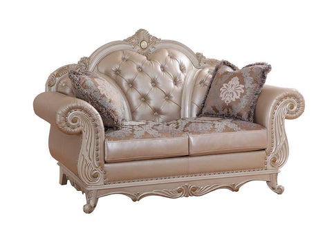 Marquee Pearl Leather Loveseat