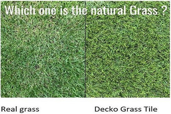 Ikea grass carpet or Natural grass compared to high quality Decko grass tiles