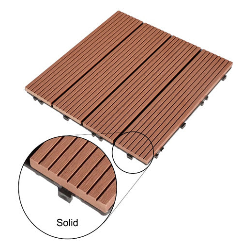 Decko tiles are solid leading to better durability