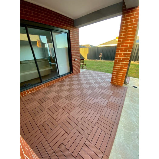 Premium Decking Tile Brown (New) - Price/ Box of 11 Tiles = 1 sqm