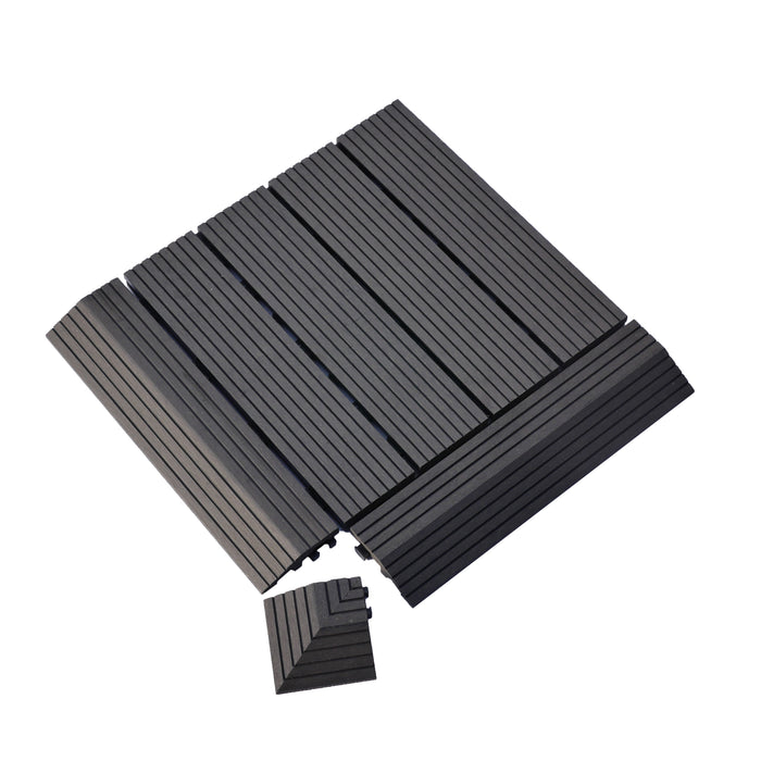 Premium Decking Tile CHARCOAL (New) - Price/ 1 Piece