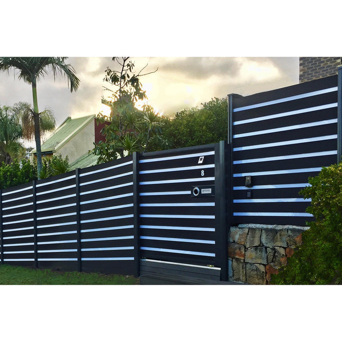 RUBICAB Zebra Premium Fence Kit with DECKO Boards - decko.com.au