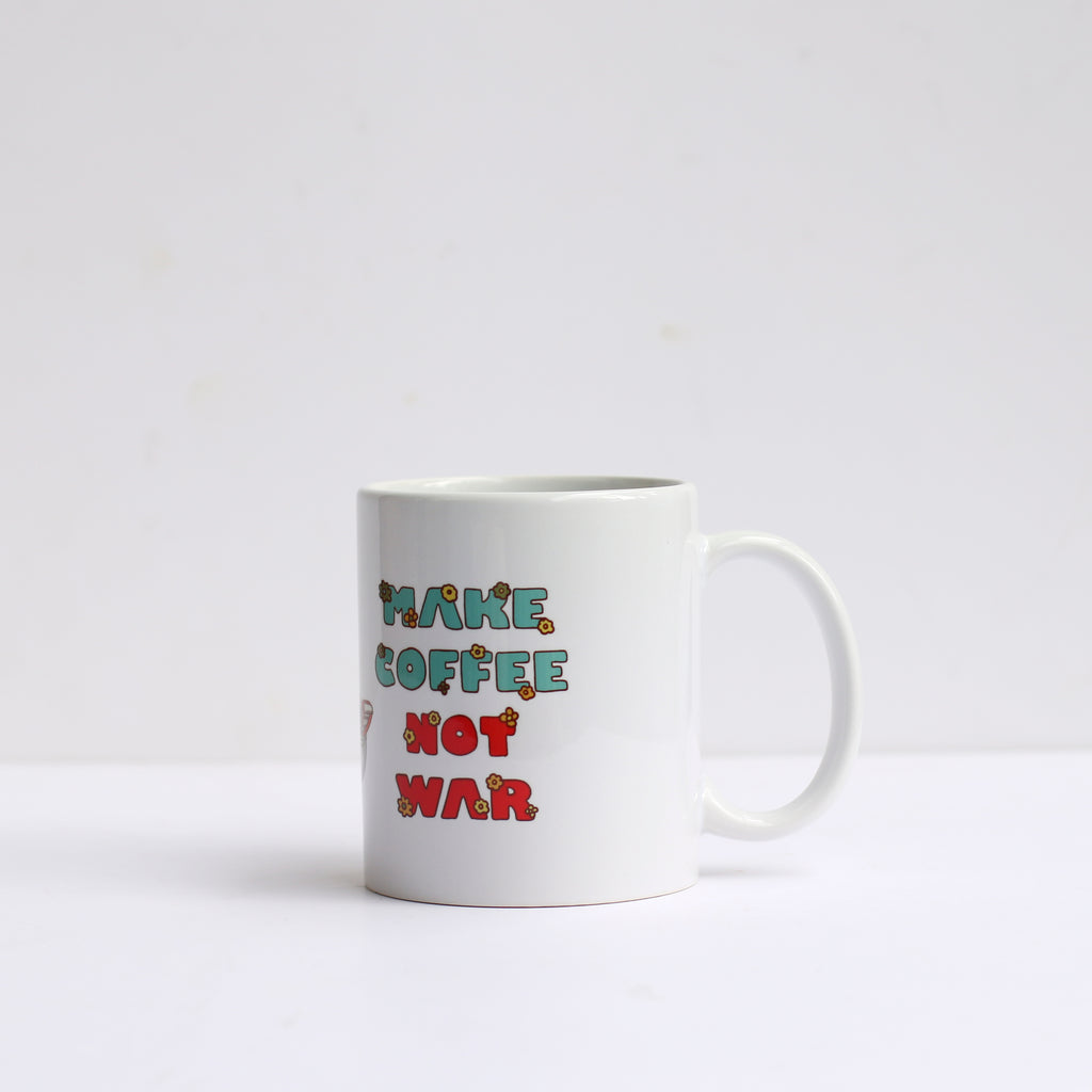 "Ly sứ ""Make coffee not war"""