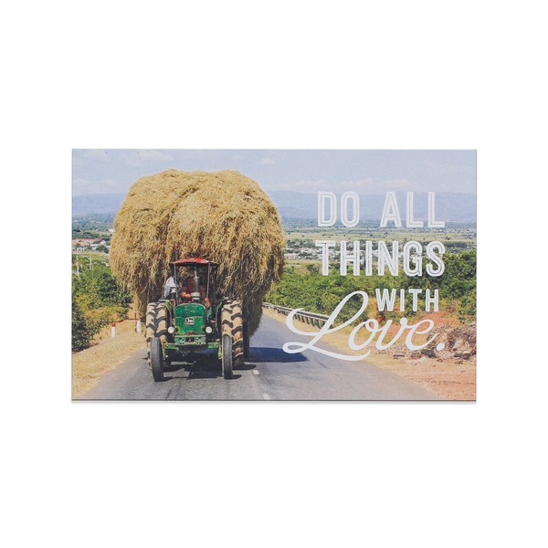"Bưu thiếp nam châm gỗ ""Do all things with loves"" - WP197 - Tick&Pick.vn"
