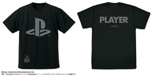 [PO] PlayStation PLAYER Dry T-shirt BLACK