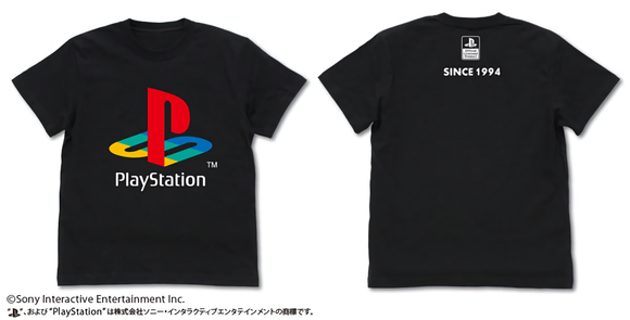 [PO] PlayStation T-shirt Ver.2 1st Gen. BLACK