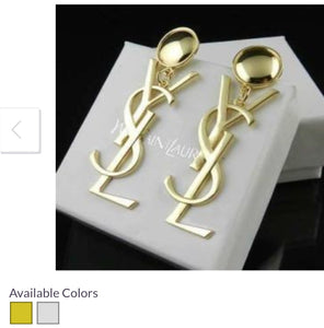YSL Designer Women's Earrings Set