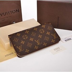 Louis Vuitton Leather Zipper Wallet Purse