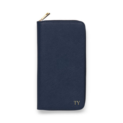Zip Travel Wallet - Navy