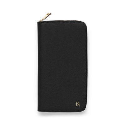 Zip Travel Wallet - Black