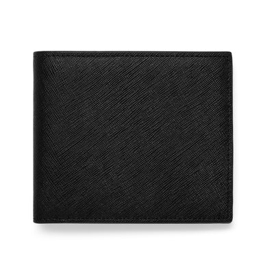 Bifold Wallet Saffiano Leather - Black
