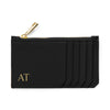 Slim Zip Cardholder - Black