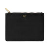 Large Saffiano Leather Clutch - Black
