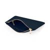Large Saffiano Leather Clutch - Navy